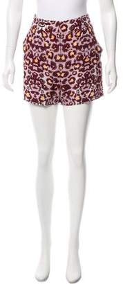 Mara Hoffman Animal Print Mini Shorts