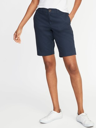 Old Navy Mid-Rise Relaxed Uniform Bermudas for Women - 10.5-inch inseam