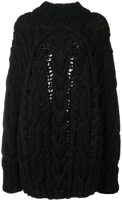 Vera Wang fisherman knit pullover