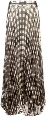Alice + Olivia Alice+Olivia metallic check pleated skirt
