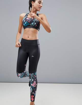 Only Play Tropical Print 7/8 Breathable Leggings