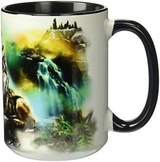The Mountain Men's Wolf Lookout Ceramic Mug