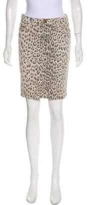 Current/Elliott Animal Print Knee-Length Skirt