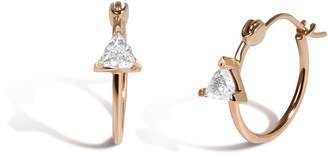 Parker Hi June Jewelry New York 14k Gold & Trillion Diamond Hoop Earrings