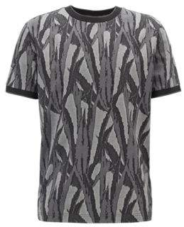 d28b663c539 BOSS Relaxed-fit T-shirt with jacquard-woven collection pattern