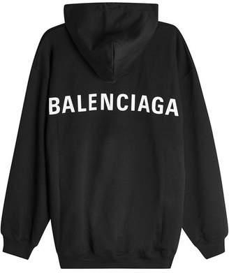 Balenciaga Logo Back Cotton Hoody
