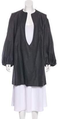 Saint Laurent Wool Knee-Length Coat