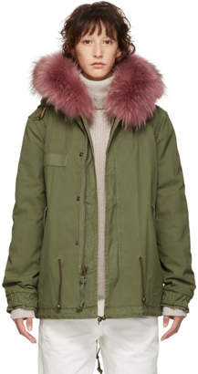 Mr & Mrs Italy Green Mini Canvas Parka