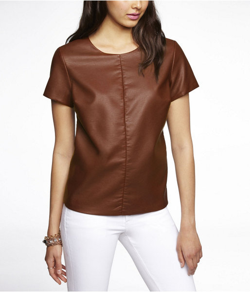 Express (Minus The) Leather Seamed Tee