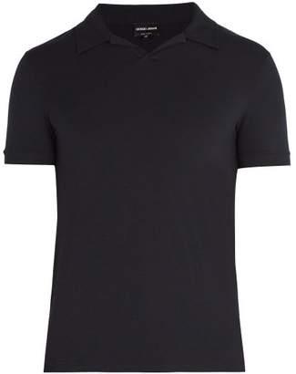 Giorgio Armani Jersey Polo Shirt - Mens - Navy