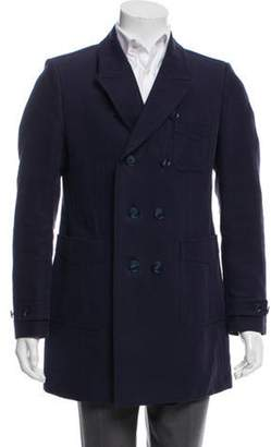 Burberry Double-Breasted Linen Overcoat Double-Breasted Linen Overcoat