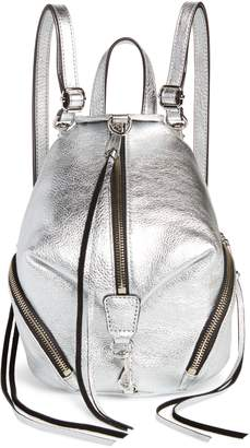 Rebecca Minkoff Mini Julian Metallic Leather Convertible Backpack