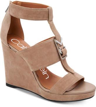 Calvin Klein Women's Racquel Wedge Sandals Women's Shoes
