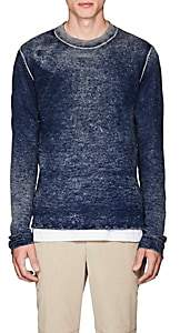 ATM Anthony Thomas Melillo MEN'S WASHED WOOL-CASHMERE SWEATER-NAVY SIZE S