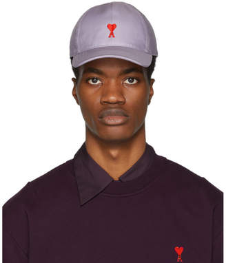 Ami Alexandre Mattiussi SSENSE Exclusive Purple Cotton Cap