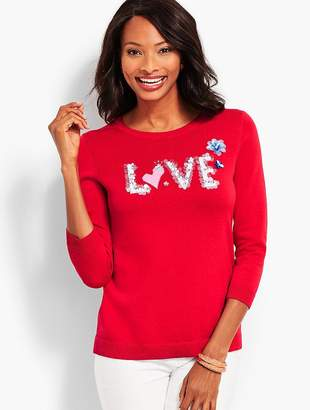 Talbots Hand-Sewn Sequined Sweater