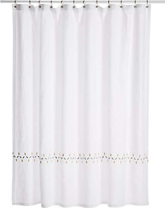 One Kings Lane Matouk For Petala Shower Curtain - Silver/Champagne