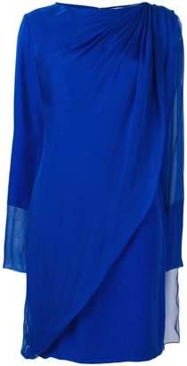 Lanvin draped overlay dress