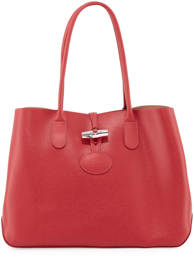 Longchamp Roseau Leather Small Tote Bag