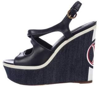 Louis Vuitton Platform Slingback Wedges