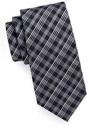 Geoffrey Beene Gingham Plaid Tie