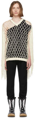 BED J.W. FORD White Fringe Sweater
