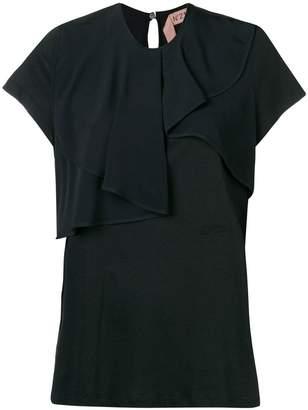No.21 ruffle short-sleeve blouse