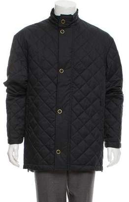 Burberry Quilted Tab-Collar Jacket