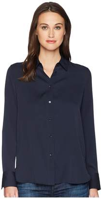 Vince Slim Fitted Blouse Women's Blouse