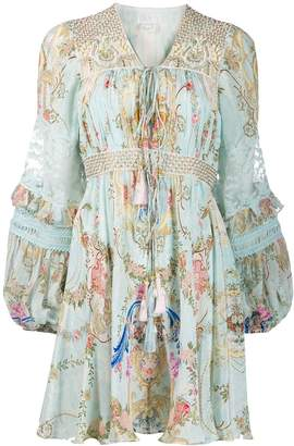Camilla short peasant dress