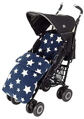 John Lewis & Partners Baby Multi Star Pushchair Footmuff