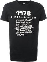 Diesel 标语印花T恤