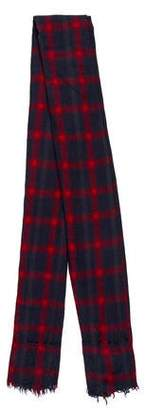 Zadig & Voltaire Plaid Wool Scarf