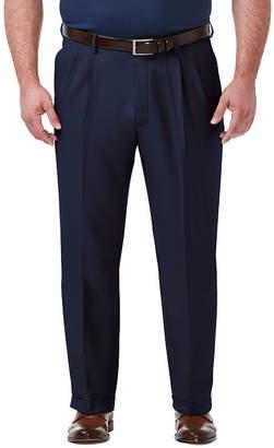 Haggar Premium Comfort Dress Pant Mens Classic Fit Pleated Pant - Big and Tall