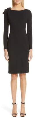 Emporio Armani Long Sleeve Jersey Sheath Dress