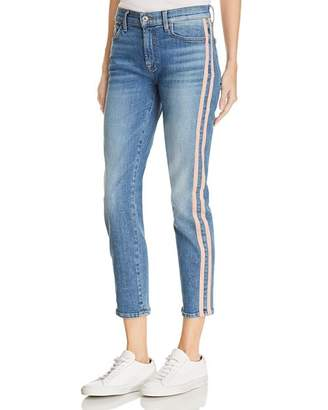 7 For All Mankind Roxanne Side-Stripe Skinny Jeans in Vintage Blue Dunes