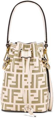 Fendi Mini Logo Mon Tresor Bag in Cream | FWRD
