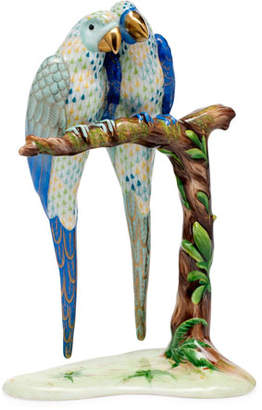 Herend Pair of Macaws Figurine