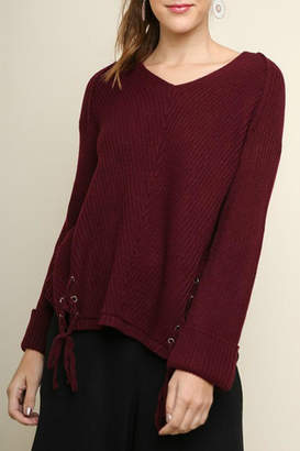 Umgee USA Lace Detail Sweater