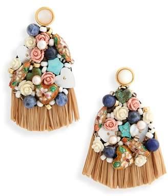 Lizzie Fortunato Daydream Raffia Drop Earrings