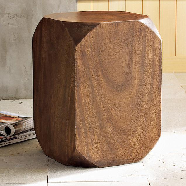 Beveled Side Table