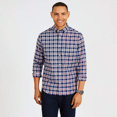 Big & Tall Tencel Plaid Classic Fit Button-Down Shirt