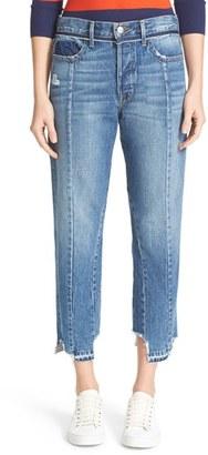 Women's Frame Vintage Fit High Waist Crop Jeans $299 thestylecure.com