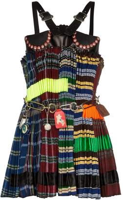 Chopova Lowena pleated mixed material dress