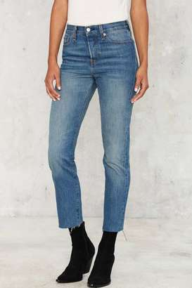 Levi's Levi's Wedgie Icon Button-Fly Jeans - Coyote Desert $88 thestylecure.com