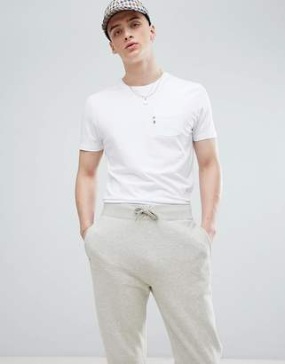 Aquascutum London Wilmslow One Pocket T-Shirt In White