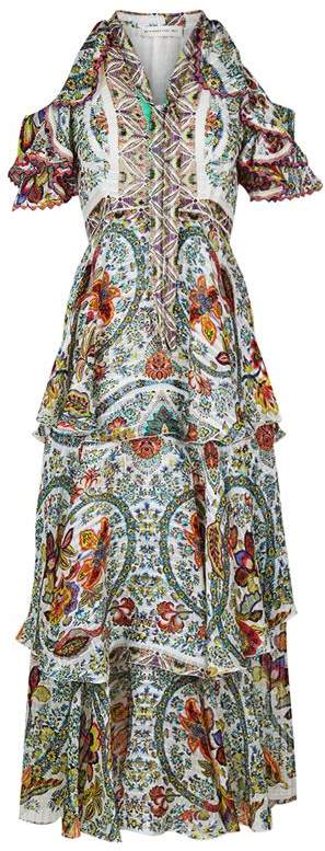 Frilled Cold Shoulder Dress