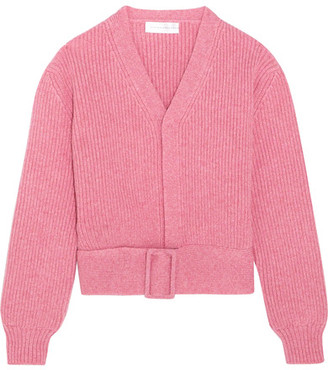 Victoria Beckham - Belted Wool Cardigan - Pink