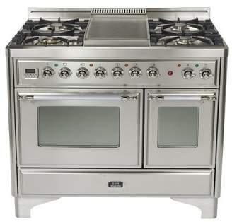 """ILVE 40"""" Free-standing Gas Range with Griddle"""