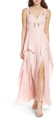 Women's Bcbgmaxazria 'Juliana' Georgette Fit & Flare Gown $368 thestylecure.com